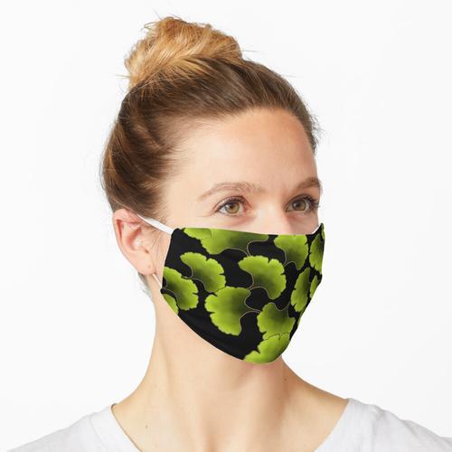 Grünes Ginkgomuster Maske