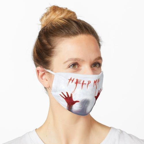 Hilf mir, verdammt lustiger Duschvorhang Maske
