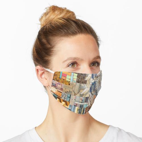Farbiges Holz Maske