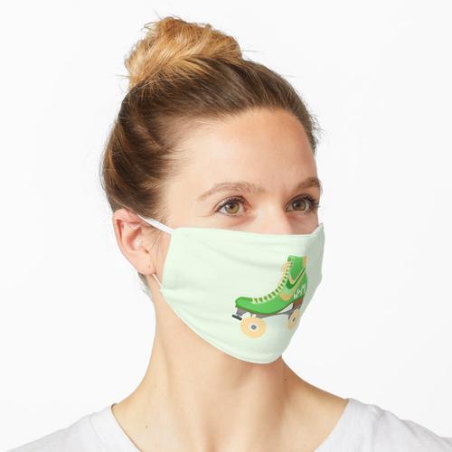 Rollschuhe (grün) Maske