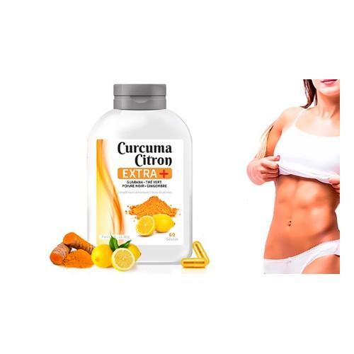 Kurkuma und Zitrone+ Kapseln: 30 Kapseln (15 Tage)