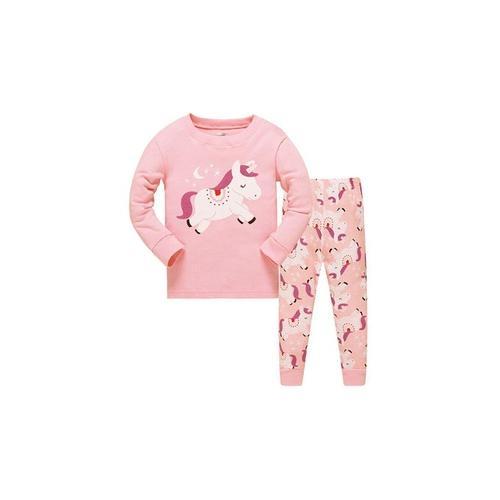 Mädchen-Pyjama mit Einhorn-Muster: 6-7