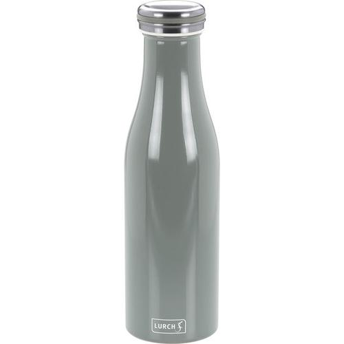 Isolierflasche Edelstahl, grau