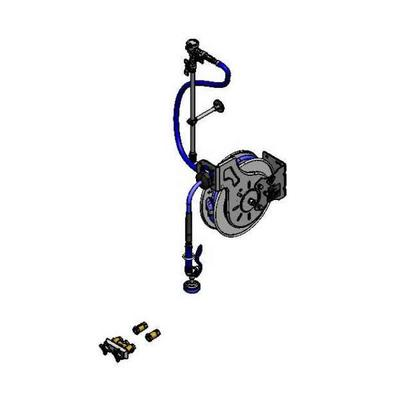"""T&S B-1459-7132-01 35 ft Open Hose Reel Assembly w/ 3"""" Concealed Mixing Faucet - 3/8"""" NPT"""