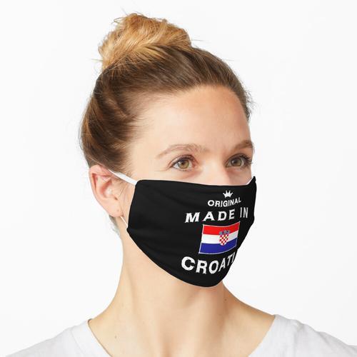 Kroatien kroatisch Flagge Fahne Made in Croatia Maske