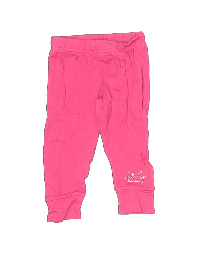 Child of Mine by Carter's Leggings: Pink Solid Bottoms - Size 6-9 Month