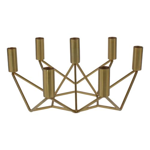 VOSS Design »Conrad« Kerzenhalter gold für 7 Kerzen