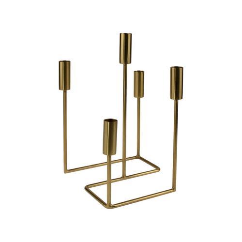 VOSS Design »Serpentine« Kerzenhalter gold für 5 Kerzen