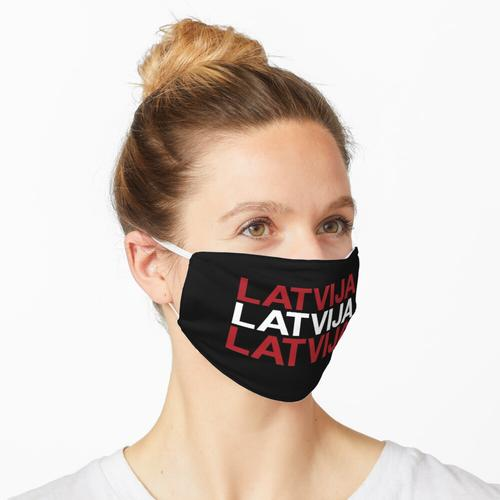 LATVIJA Latvian Flag Maske