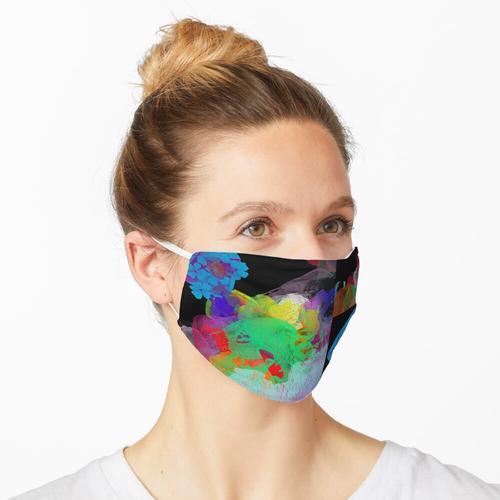 Farbe in einer farblosen Welt Maske