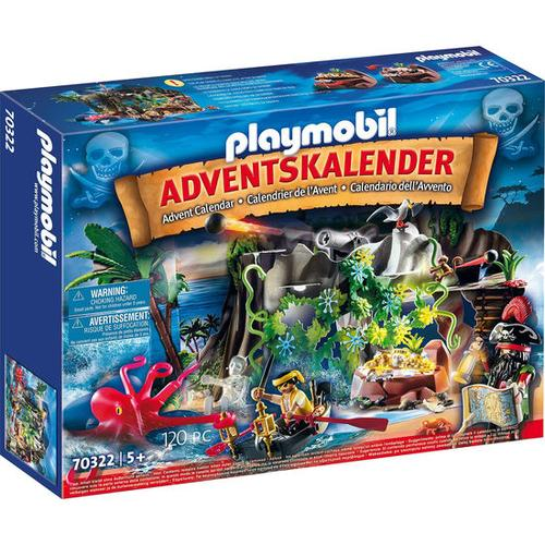 PLAYMOBIL® 70322 Adventskalender Schatzsuche in der Piratenbucht, bunt