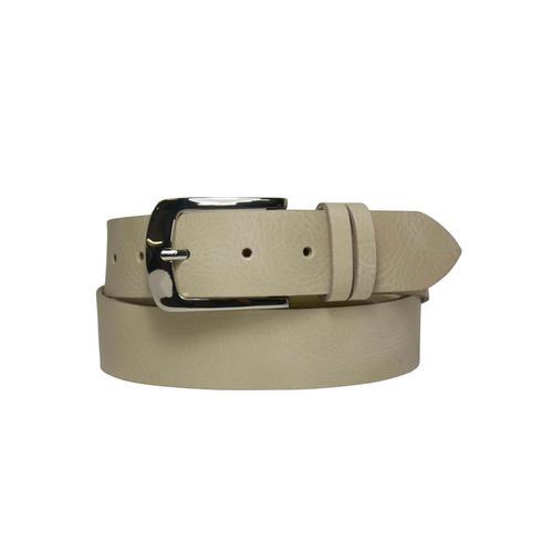 AnnaMatoni Ledergürtel, Mit genarbter Oberfläche beige Damen Ledergürtel Gürtel Accessoires