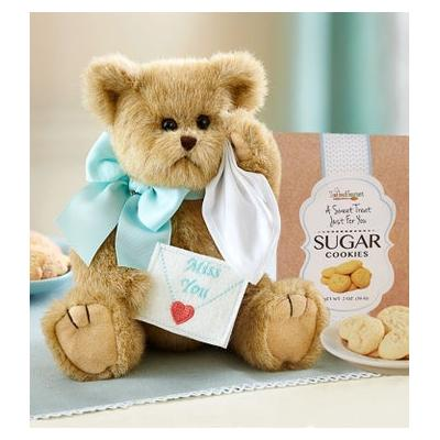Bearington Miss You Bear With Cookies Miss You Bear with Cookies by 1-800 Flowers