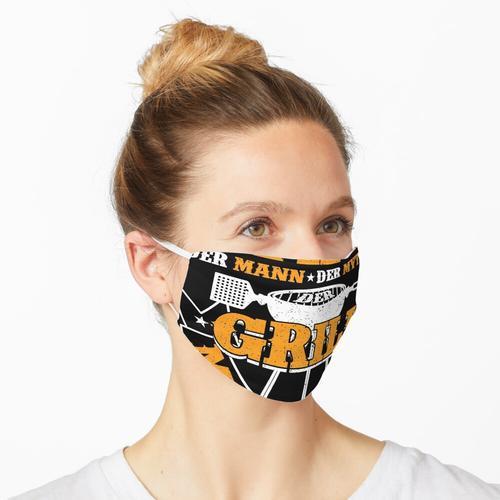 Grillmeister Papa Grillen Grillfan BBQ Vatertag Maske