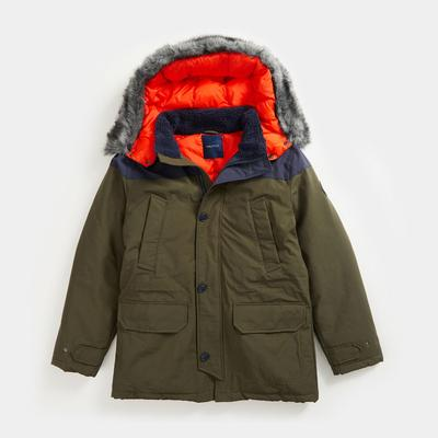 Nautica Men's Sustainably Crafted Tempasphere Colorblock Parka Olive, XL