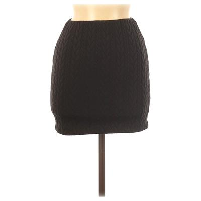T by Alexander Wang Casual Skirt: Black Solid Bottoms - Size X-Small
