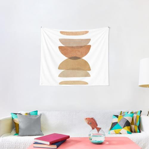 Warm abstract shapes Wall Tapestry