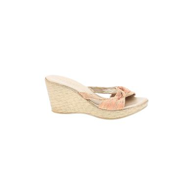 Italian Shoemakers Footwear Wedges: Orange Solid Shoes - Size 39