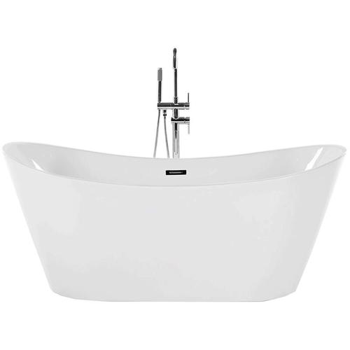Beliani - Freistehende Badewanne Weiß Sanitäracryl Oval 150 cm Modern