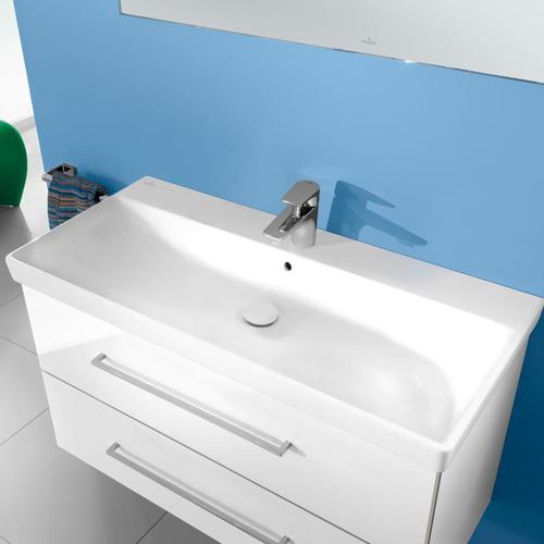 Villeroy & Boch Avento Waschtisch B: 100 T: 47 cm weiß, mit Überlauf 4156A501