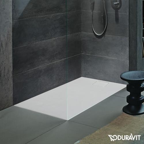 Duravit Stonetto Rechteck-Duschwanne L: 160 B: 100 cm weiß matt 720171380000000