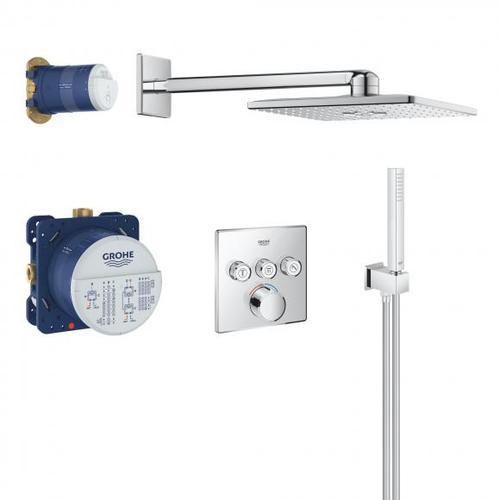 Grohe SmartControl Duschsystem mit Mischer & Rainshower 310 SmartActive Cube Kopfbrause 34712000