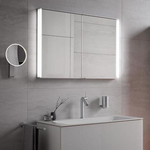 Keuco Royal Match Unterputz-Spiegelschrank mit LED-Beleuchtung B: 80 H: 70 T: 14,9 cm 12812171301, EEK: A++
