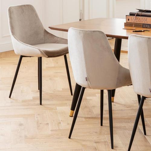 KARE Design East Side Stuhl B: 480 H: 830 T: 570 mm, schwarz/champagner 82734