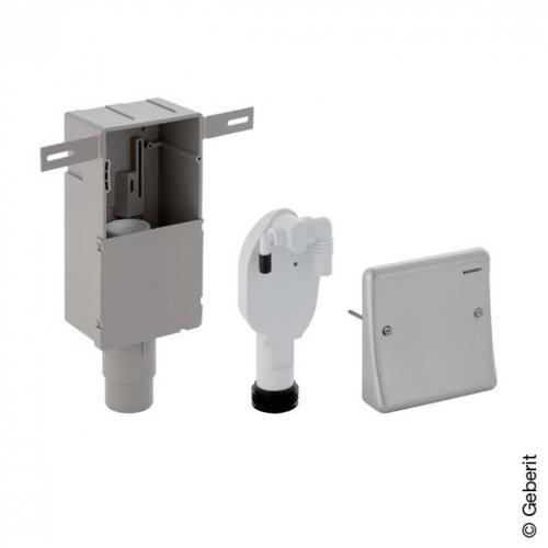 Geberit Unterputz-Geruchsverschluss für Geräte, mit Wandeinbaukasten, mit 2 Anschlüssen 152233001