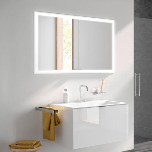 Emco Prime Unterputz LED-Lichtspiegelschrank B: 123 H: 73 T: 16,7 cm aluminium/verspiegelt 949705094, EEK: A+