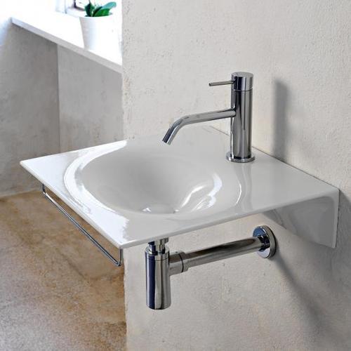 Scarabeo Veil Handwaschbecken B: 46 T: 46 cm weiß, mit BIO System Beschichtung 6101BK