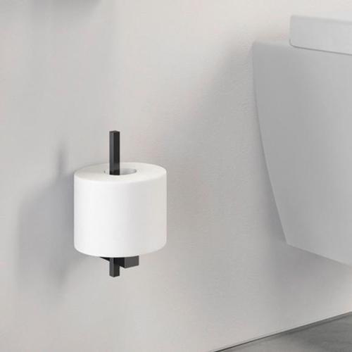 Zack CARVO Ersatz-Toilettenpapierhalter B: 23 H: 195 T: 100 mm schwarz 40501