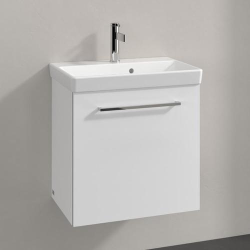 Villeroy & Boch Avento Waschtischunterschrank B: 53 H: 51,4 T: 35,2 cm, 1 Tür, Anschlag rechts Front crystal white / Korpus crystal white A88801B4