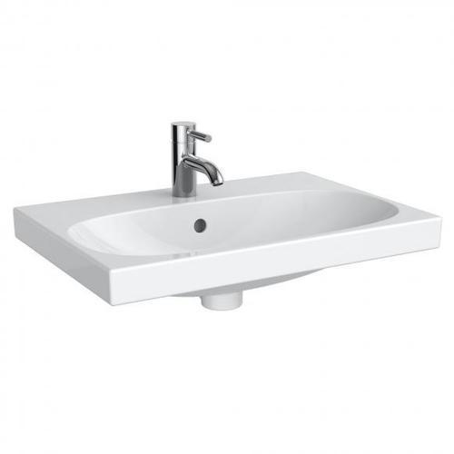 Geberit Acanto Waschtisch Compact B: 60 T: 42 cm weiß, mit KeraTect, mit 1 Hahnloch 500631018