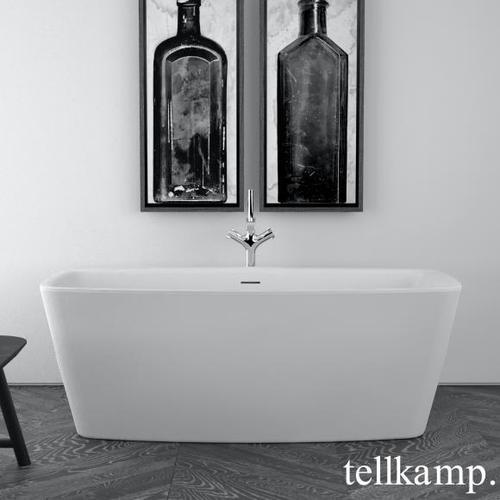 Tellkamp Arte XS Freistehende Rechteck-Badewanne L: 155 B: 80 H: 57 cm weiß matt 0100-254-00-A/CRWM