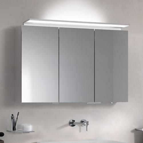 Keuco Royal L1 Aufputz-Spiegelschrank mit 3 Türen B: 120 H: 74,2 T: 15 cm 13605171301, EEK: A+