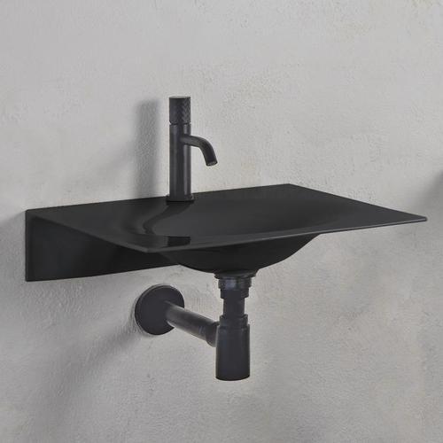 Scarabeo Veil Waschbecken B: 60,5 T: 46 cm schwarz, mit BIO System Beschichtung 610235BK