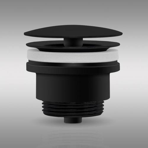 PREMIUM Universal Ablaufventil ohne Staufunktion schwarz matt PR1088