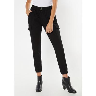Rue21 Womens Black Double Button Cargo Joggers - Size Xl