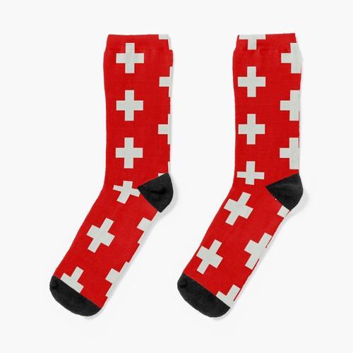 Cooles Schweizer Kreuz Schweiz Fahne Socken