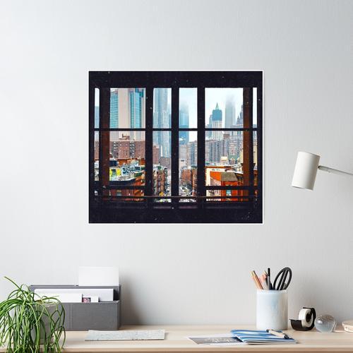 New York City Fenster Poster
