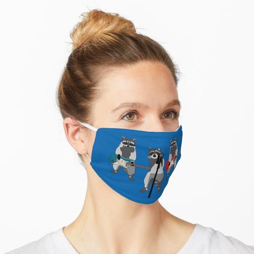 Die Waschbären Maske