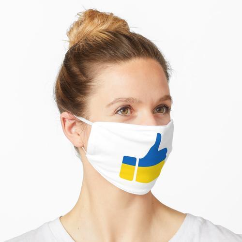Fahnen-Daumen der Ukraine Maske