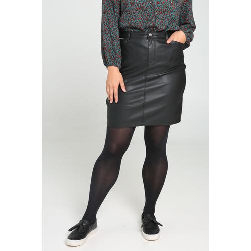 Paprika Lederimitatrock, casual schwarz Damen Lederimitatröcke Röcke Lederimitatrock