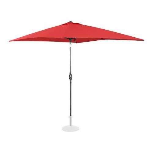 Uniprodo Sonnenschirm groß - rot - rechteckig - 200 x 300 cm - neigbar