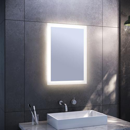 Badspiegel mit LED Beleuchtung Badezimmerspiegel Wandspiegel Lichtspiegel 50x70