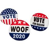 Frisco Plush Squeaky Voting Pins Dog Toy, 3-count