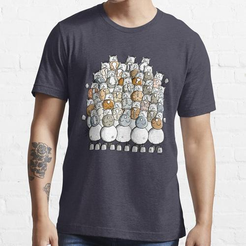 Funny herd of horses - Horse - Gift - Comic - Funny - Animal Essential T-Shirt