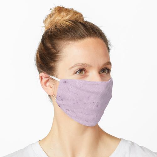 Rosa Farbflecken Maske