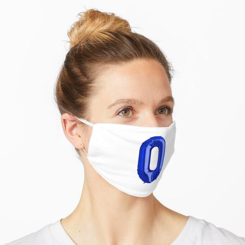 Null Nummer 0 Metallic Royal Blue Mylar Folie Helium Ballon für Neugeborene Maske